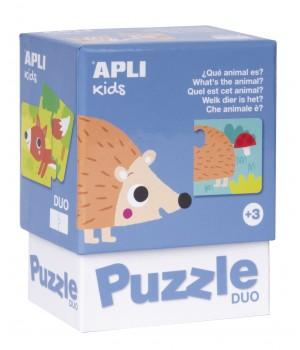 Puzzle DUO Apli Zvieratká