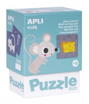 Čo jedia zvieratá DUO puzzle
