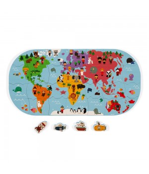 Mapa sveta puzzle do vody...