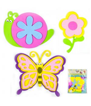 Set - slimák/kvet/motýľ