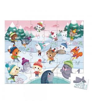 Puzzle Janod Párty na snehu...