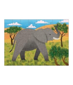 Puzzle mini Slon africký 48ks