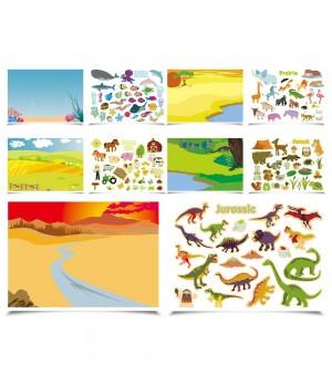 Svet zvierat - nálepková kniha