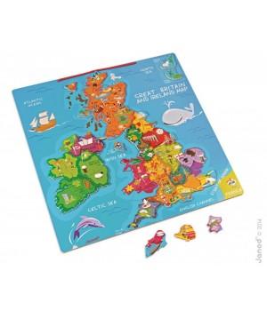 Magnetická mapa Veľká Británia