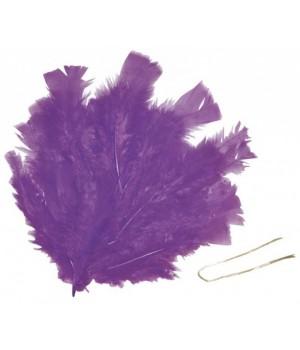 Pierká fialové - 48 ks