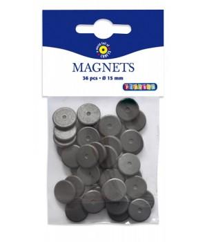 Magnety - 36ks, priemer 1,5 cm