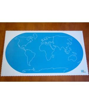 Mapa sveta - kontúry...