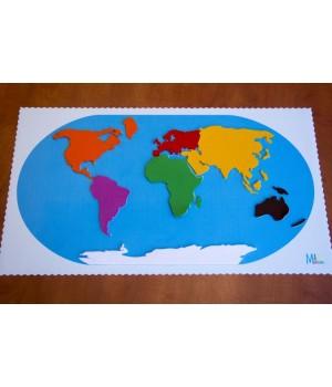 Kontinenty z filcu