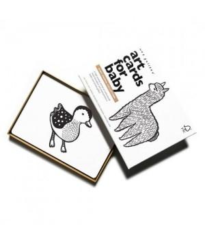 Kontrastné kartičky Art...