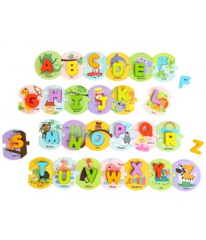 Priraď písmená puzzle