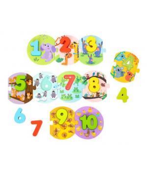 Priraď čísla puzzle
