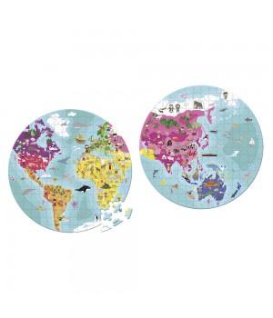 Puzzle obojstranné Zemeguľa...