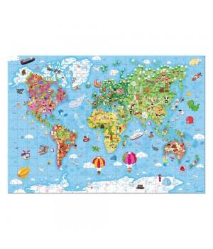 Puzzle Mapa sveta Janod 300ks