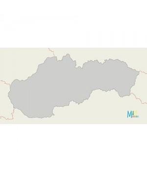 Slovensko - slepá mapa