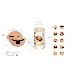 Emócie magnetky - malé, 20 ks